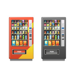 vending machine snacks sandwich biscuit chocolate vector image