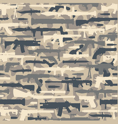 vintage military seamless pattern vector image