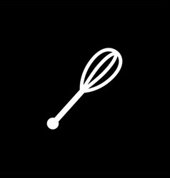 whisk icon on black background black flat style vector image