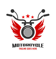 Wing and motorbike logo vector