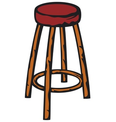 Wooden bar chair vector