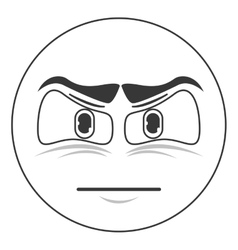 angry face emoticon icon vector image vector image