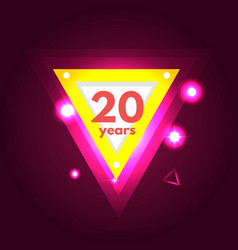anniversary 20 icon vector image vector image
