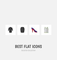 flat icon dress set of heeled shoe uniform vector image