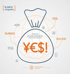 Income and success infographics vector