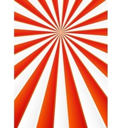 Red and white rays abstract circus poster vector image vector image