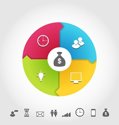 Set business infographic icons minimal style vector image