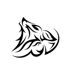 tribal head wolf vector image