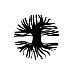 abstract circle tree vector image