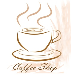 coffee shop concept art vector image
