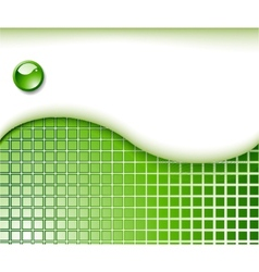 abstract green business card template vector image vector image