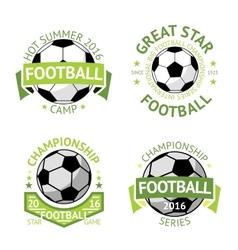 Football labels green vintage vector