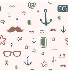 pattern icon hipster vector image