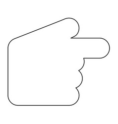pointer hand the black color icon vector image vector image