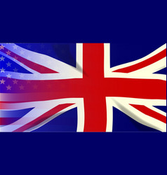 Union jack stars and stripes vector
