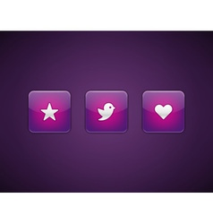 Web site buttons vector image