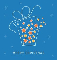 Christmas card gift vector image vector image