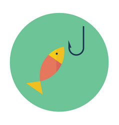 flat icon of fishing vector image vector image