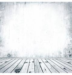 Grunge empty interior vector