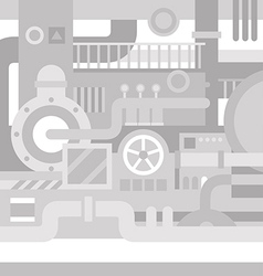 Mechanical industrial background vector image vector image