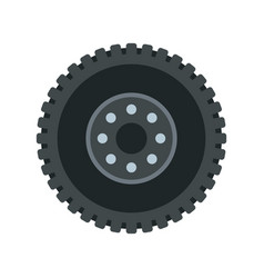 metal gear icon flat style vector image