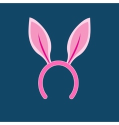 Pink rabbit ears head vector image vector image