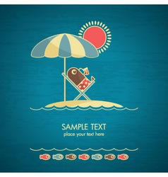 vacations card vector image