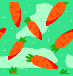 abstract carrot seamless pattern background vector image