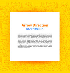 arrow direction paper template vector image