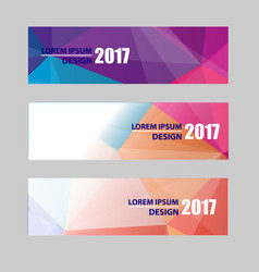 banners modern website header set abstract vector image