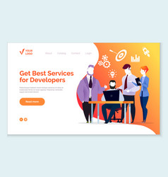 best services for developers and coders website vector image