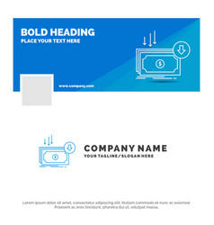 Blue business logo template for business cost cut vector