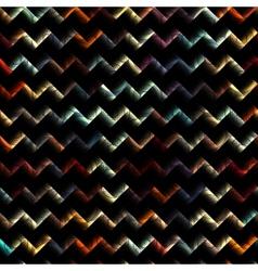 Blur chevron pattern on black background vector