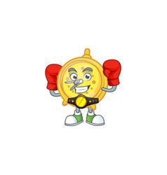 Boxing design alarm clock in cartoon character vector