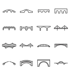 Bridge icons vector