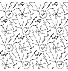 Business seamless pattern with doodles arrows and vector