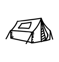 camping tent color icon design sign vector image