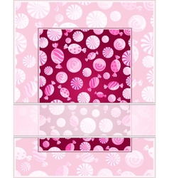 Card with candy pattern vector image