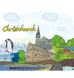 Christchurch doodles vector