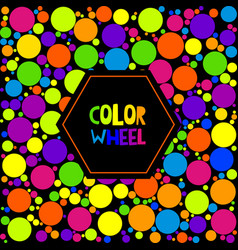 Color wheel or color circle on black background vector