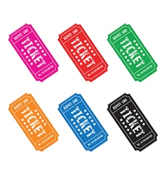 Colourful ticket set3 vector