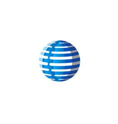 Creative blue sphere digital technology logo vector