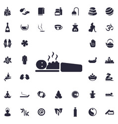 Cupping massage icon vector