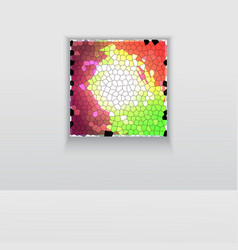 Digital art picture color on the wall in web vector