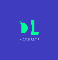 Dl letter logo design with negative space concept vector