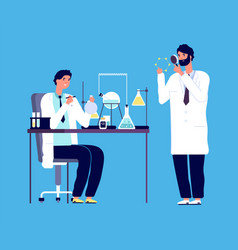 doctor and chemical researcher epidemiology vector image