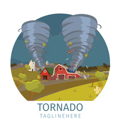 drawing image the destructive tornado vector image