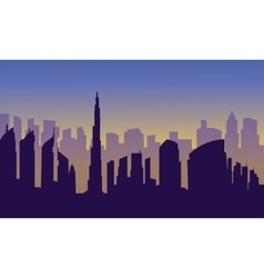 Dubai of silhouette vector