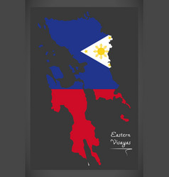 eastern visayas map of the philippines with vector image