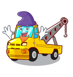 Elf cartoon tow truck isolated on rope vector